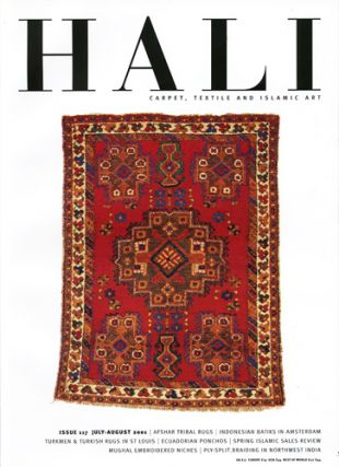 Hali. Carpet, Textile and Islamic Art. Issue 117. July-August 2001. Daniel Shaffer, ed