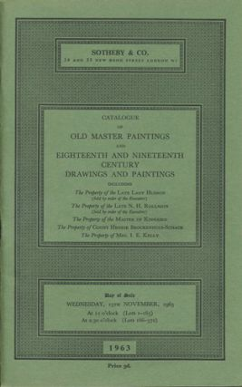 Catalogue of Old Master Paintings and Eighteenth and Nineteenth Century Drawings and Paintings....