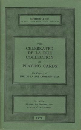 The Celebrated De La Rue Collection of Playing Cards. The Property of the De La Rue Company Ltd....