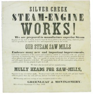 Silver Creek Steam-Engine Works! Greenleaf, Montgomery