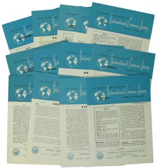 International Economic Survey. [Thirteen issues on Latin American Countries 1954-1958]. Chemical...