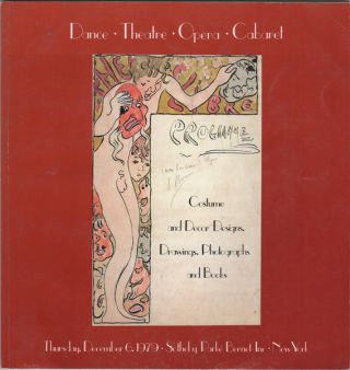 Dance Theatre Opera Caberet. Costume and Decor Designs, Drawings, Photographs & Books. December...