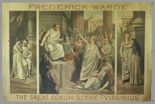 "Poster]. Frederick Warde / The Great Forum Scene in ""Virginius."" Frederick Warde"