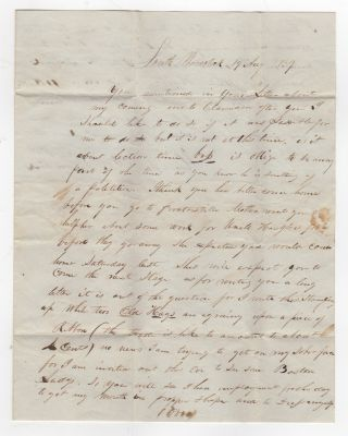 Autograph Letter Signed] E.J. Churchill of South Woodstock, Vermont Writes to his sister H.E....