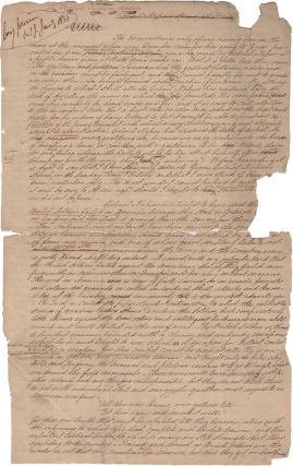 [Autograph Manuscript] British Troops in America: Colonel Napier's Speech at Bath. War of 1812, John Mitchell.