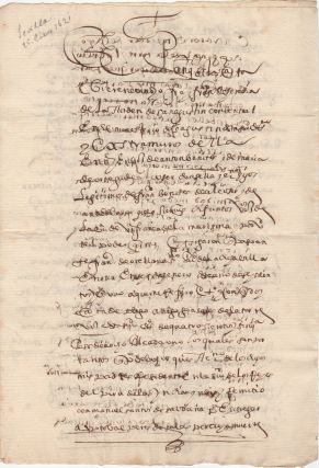 Manuscript Document] An Uncle sends Money Home from Ciudad de los Reyes del Perú de las Indias...