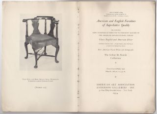 American and English furniture of superlative quality including rare examples attributed to...
