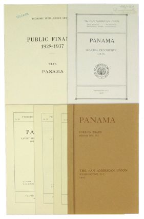 Small Archive of 5 Publications on Panamanian Trade and Finance: 1916-1943. Panama