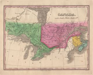 Map] Canada, by A. Finley, 1830. A. Finley, Young, Delleker