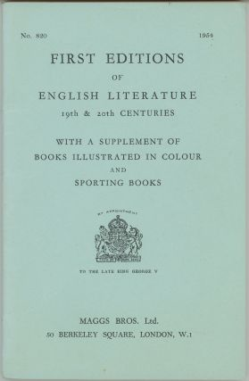 First Editions of English Literature 19th & 20th centuries. With a Supplement of Books...