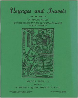 Voyages and Travels. Vol. VII Part 3 Catalogue No. 989. British Colonization in Australasia and...